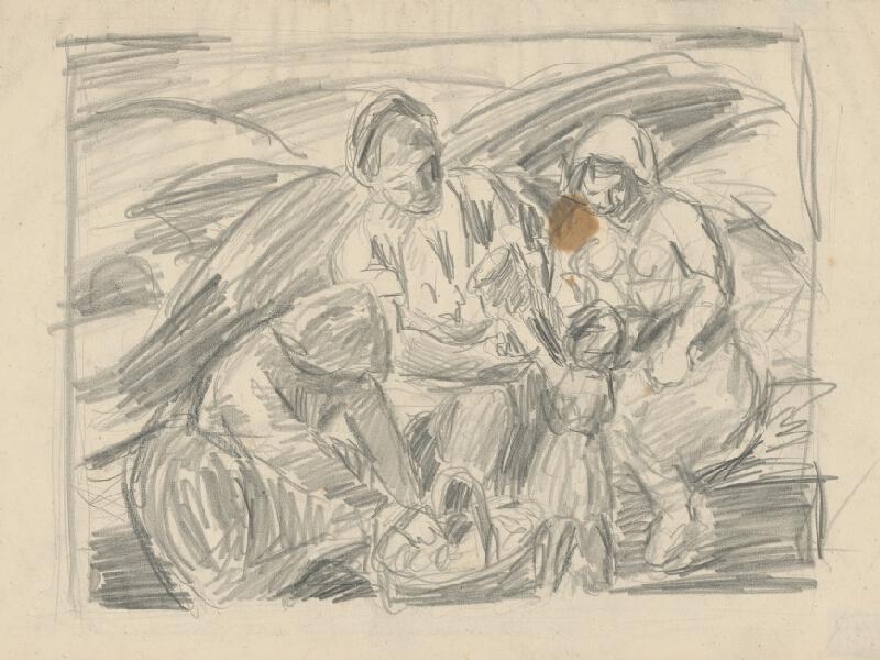 Július Flache - Náčrt k obrazu I.