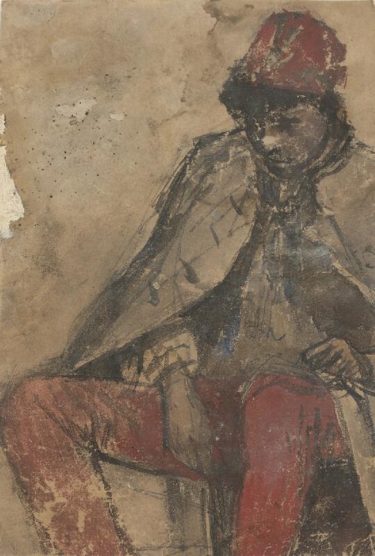 Ladislav Mednyánszky - Sediaci cigáň