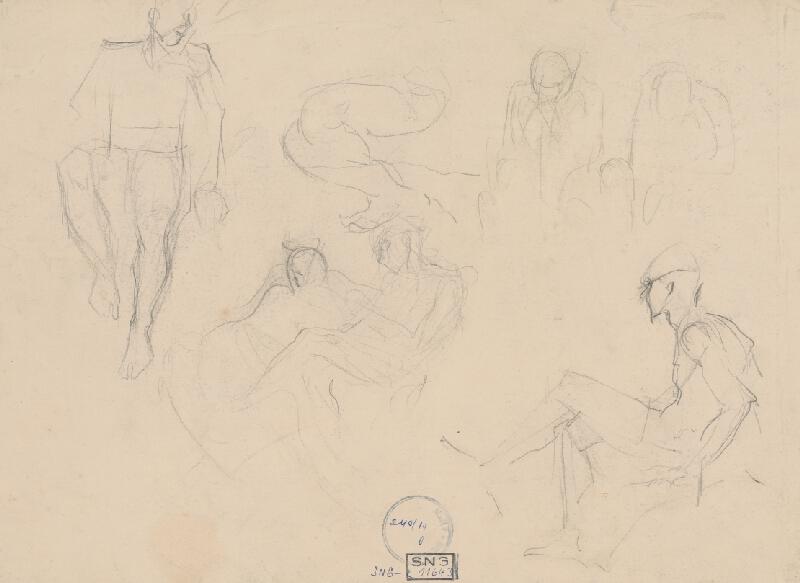 Ladislav Mednyánszky - Figurálne štúdie 456