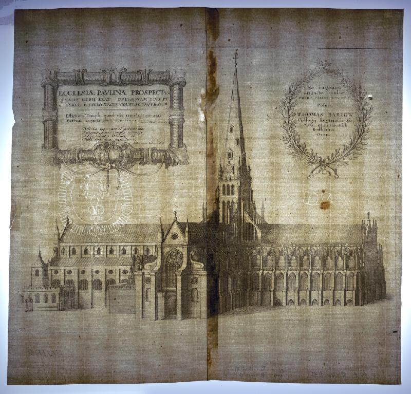 Václav Hollar – Gotická Katedrála sv. Pavla v Londýne