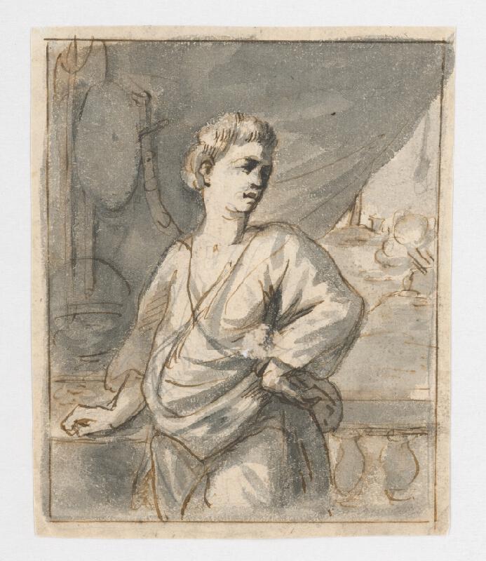 Francúzsky maliar z 18. storočia – Štúdia portrétu muža