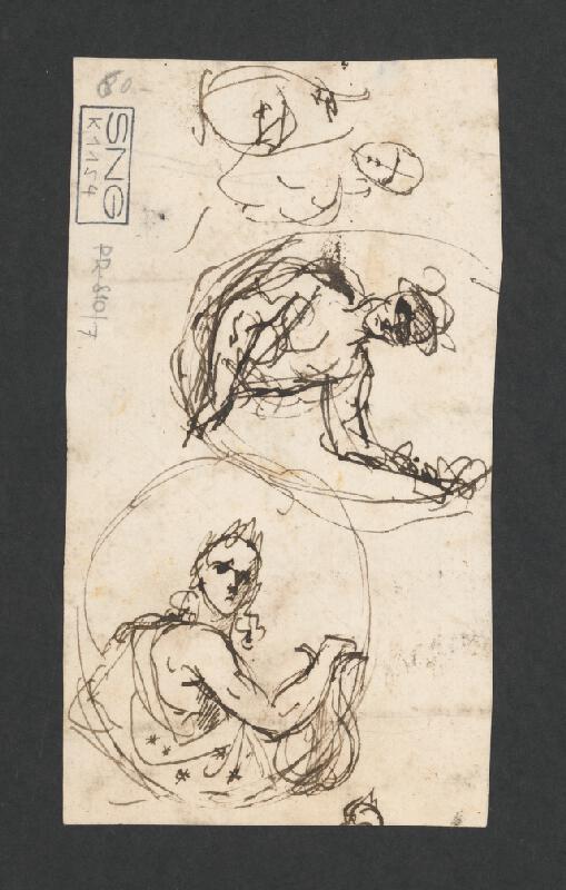 Rakúsky maliar z 18. storočia – Náčrty k oslavnému portrétu
