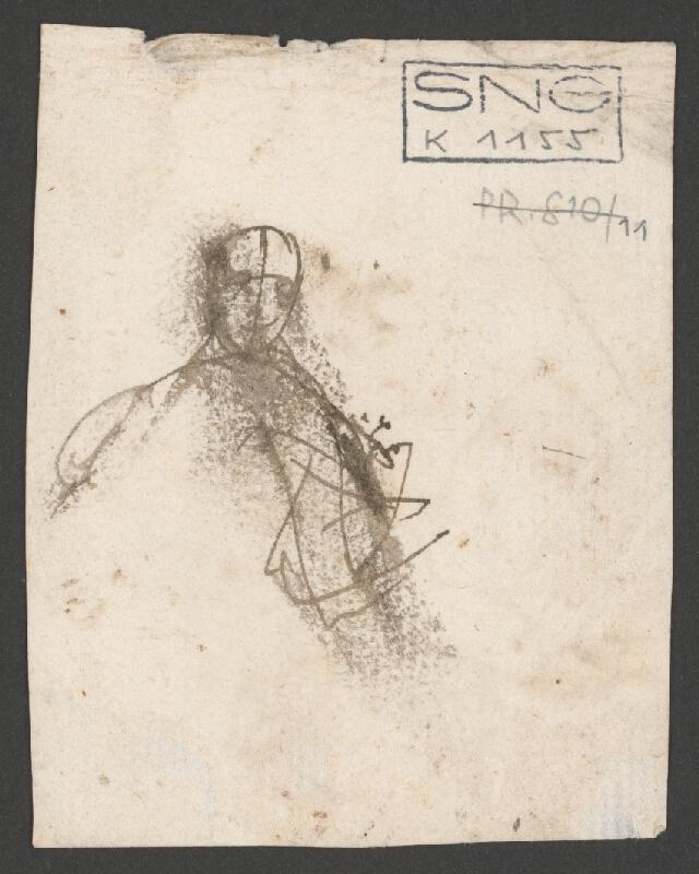 Rakúsky maliar z 18. storočia – Náčrt k oslavnému portrétu