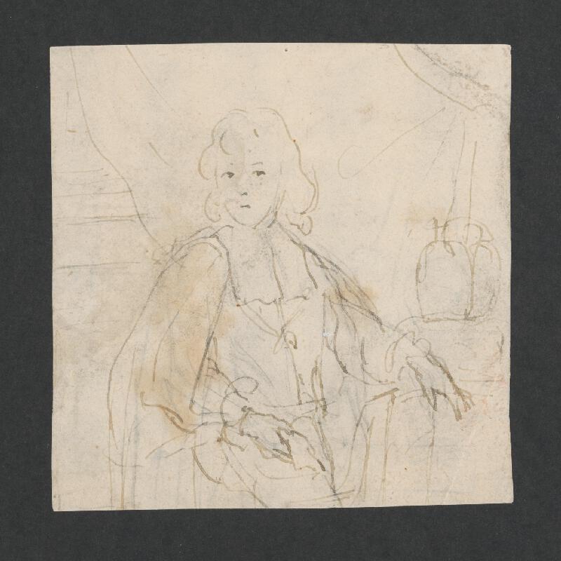 Stredoeurópsky maliar z 18. storočia – Portrétna štúdia mladého šľachtica