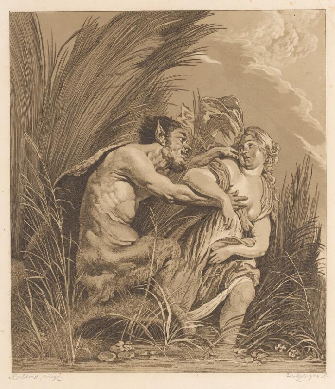 Anton Hertzinger, Peter Paul Rubens - Satyr a deva