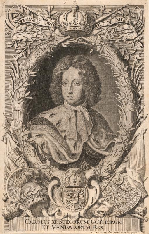 Samuel Blesendorf - Podobizeň kráľa Karola XI.-švédsky kráľ