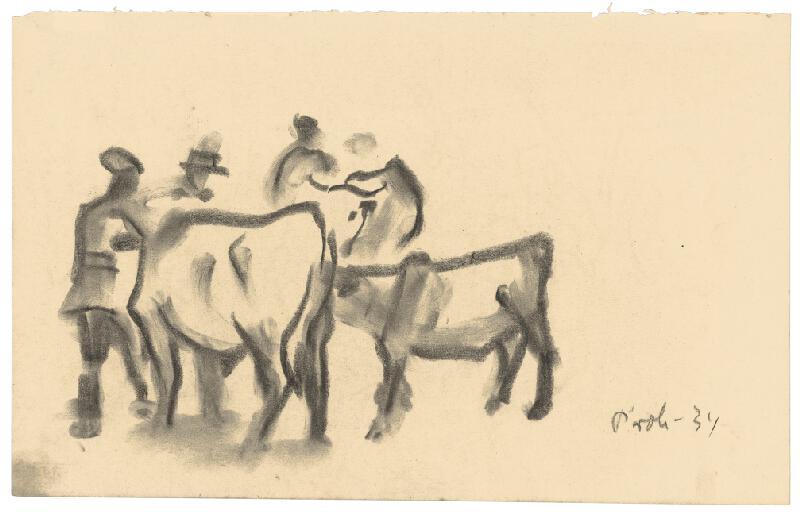 Štefan Prohászka-Tallós - Chlapci s dobytkom