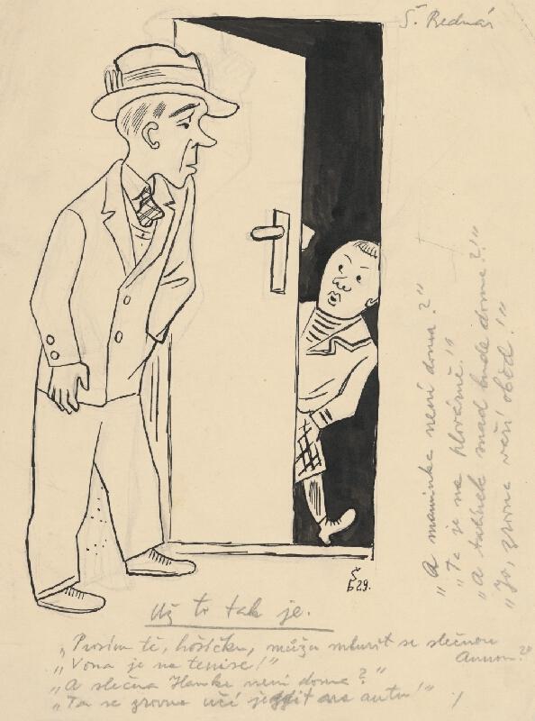 Štefan Bednár - Rozhovor pri dverách - 1929