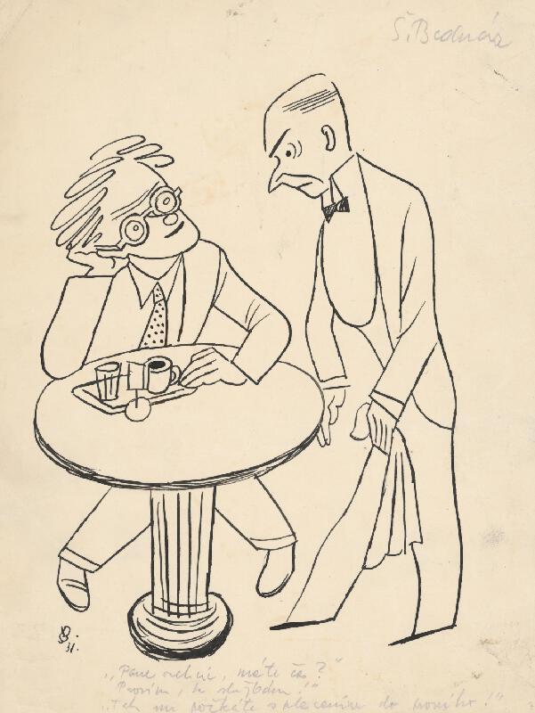 Štefan Bednár - V kaviarni - 1931