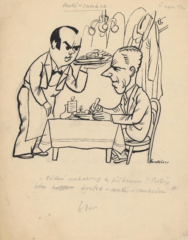 Štefan Bednár - V reštaurácii - 1935