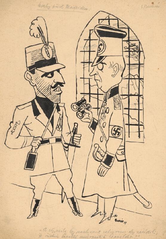 Štefan Bednár - Úvahy pred Madridom, 1937. Španielsky kráľ Alfonz a nemecký generál