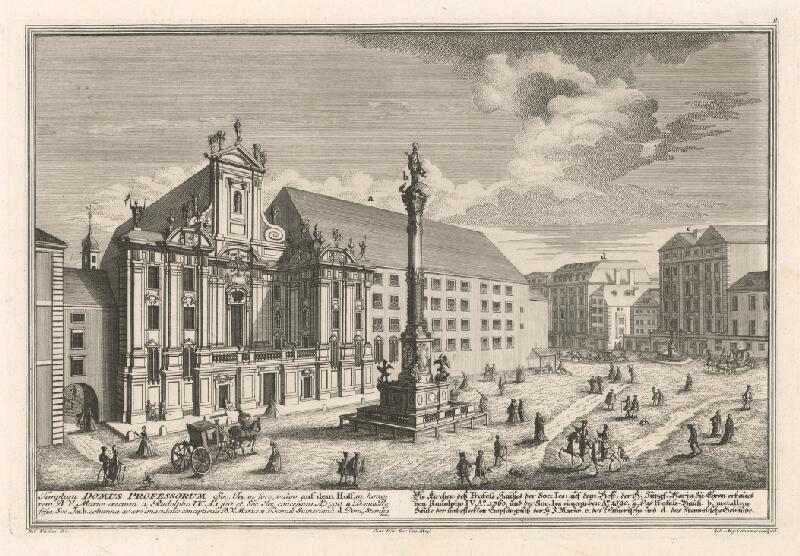 Salomon Kleiner, Johann August  Corvinus - Kostol a námestie Am Hof vo Viedni