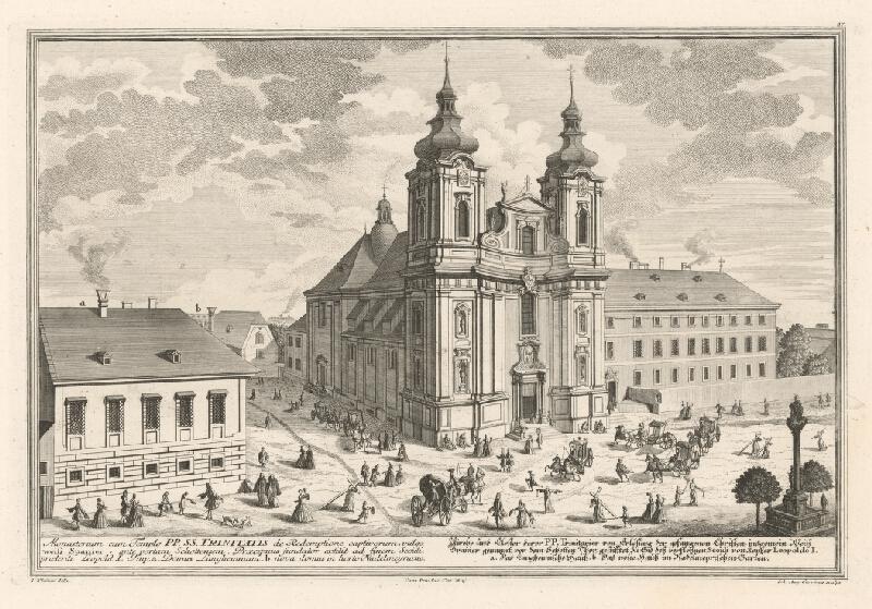 Salomon Kleiner, Johann August  Corvinus - Kostol trinitárov vo Viedni