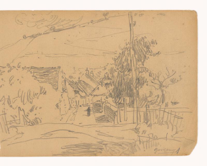 Maximilián Schurmann - Ulička v Giverny