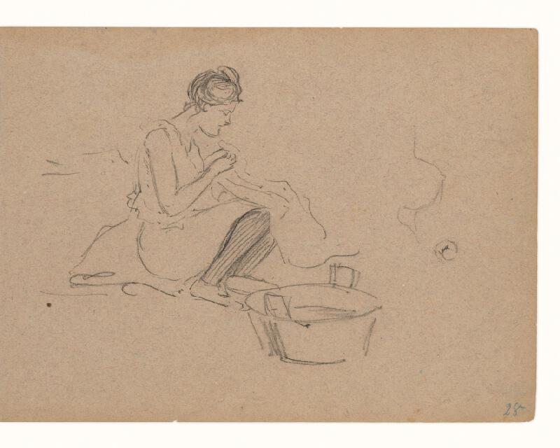 Maximilián Schurmann - Žena pri šití