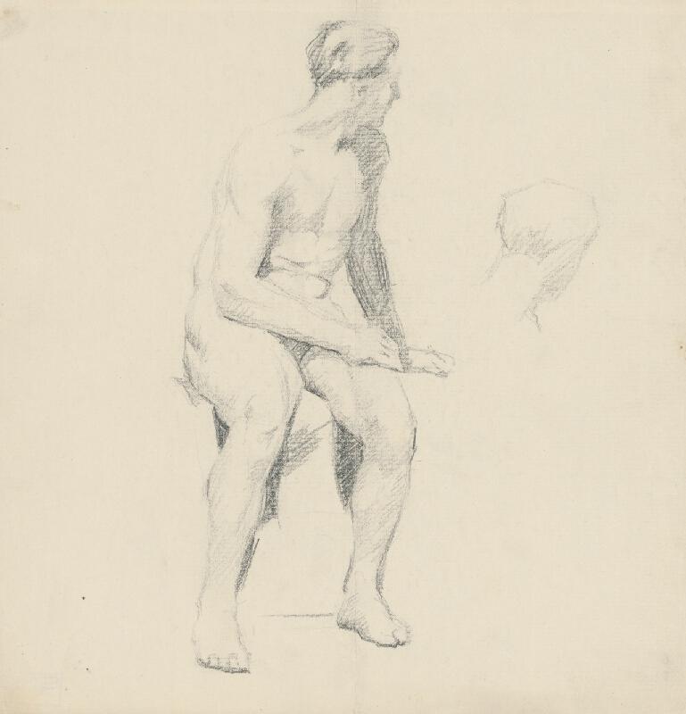 Štefan Polkoráb – Štúdia sediaceho mužského aktu
