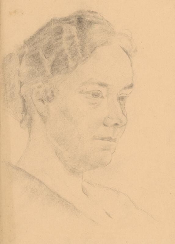 Štefan Polkoráb - Štúdia ženskej hlavy