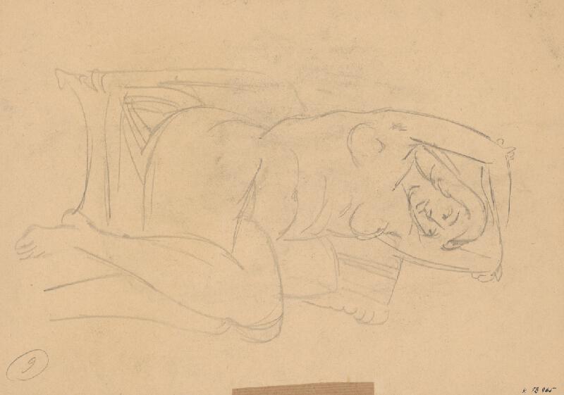 Eugen Nevan - Ležiaca žena