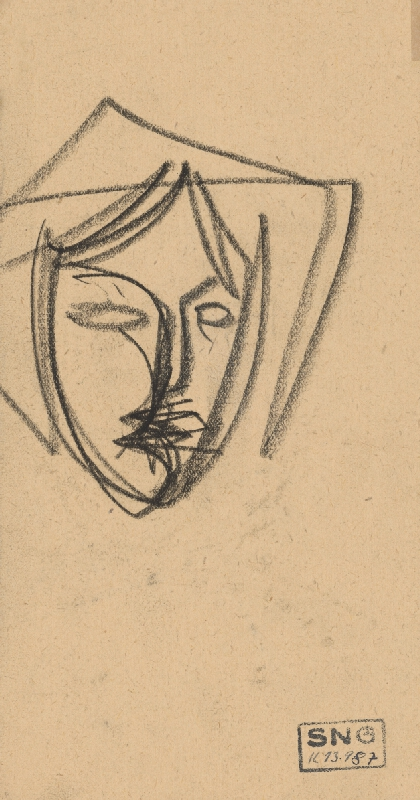 Peter Matejka – Hlava v šatke z profilu