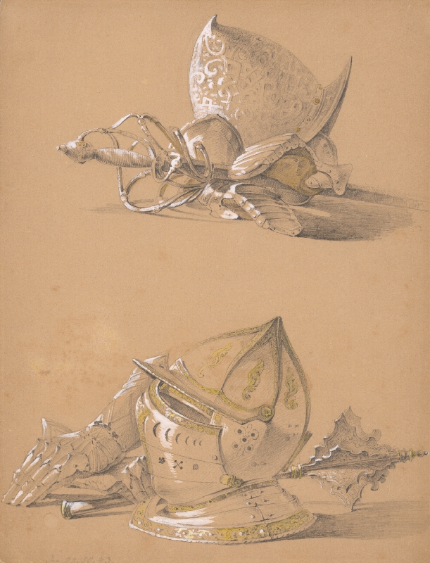 Karol Ľudovít Libay - Dve štúdie častí brnenia
