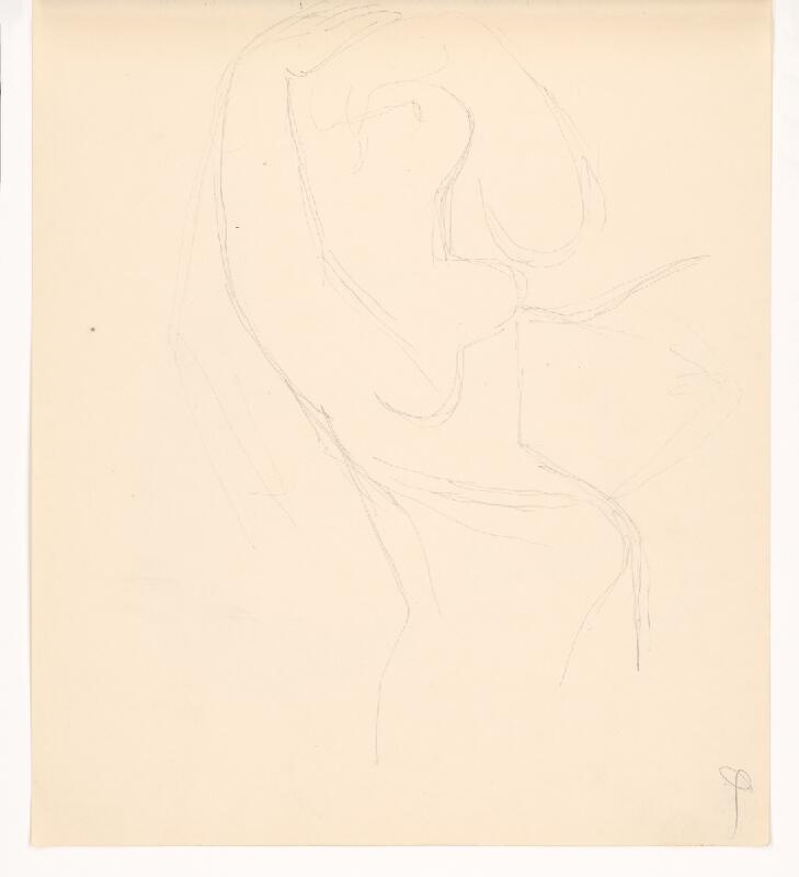 Mikuláš Galanda - Náčrt ženy so zdvihnutými rukami