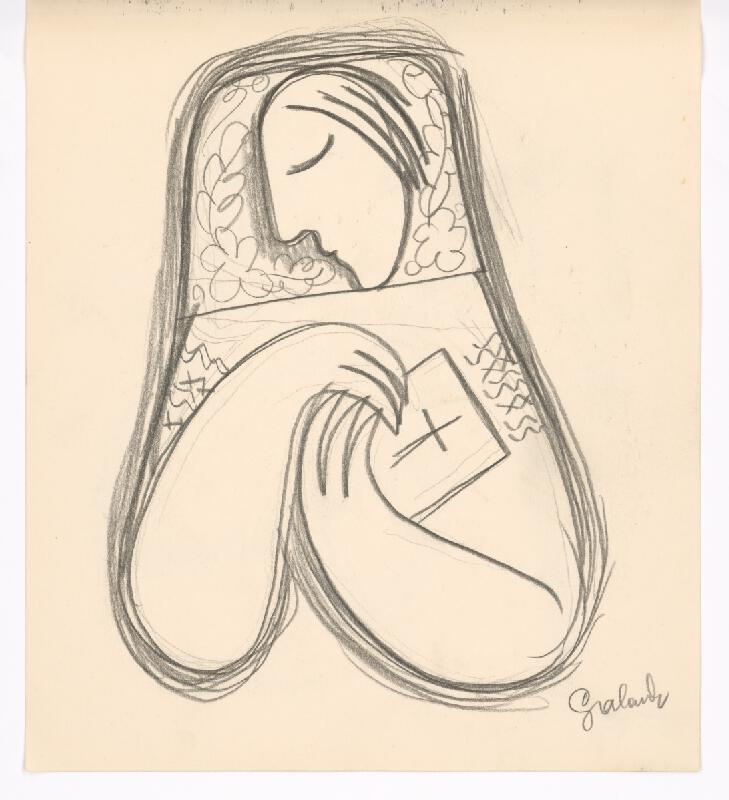Mikuláš Galanda - Žena s modlitebnou knižkou