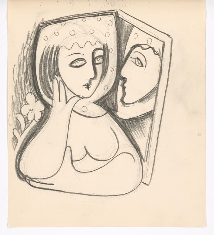 Mikuláš Galanda - Žena so zrkadlom