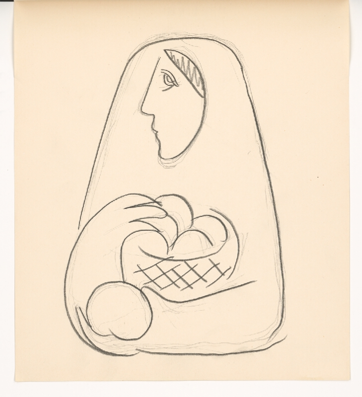 Mikuláš Galanda - Žena s košíkom ovocia v náručí