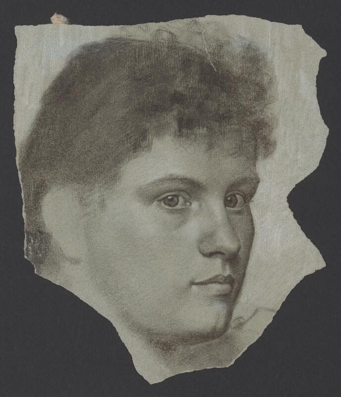 Milan Thomka Mitrovský - Portrétna štúdia ženskej hlavy