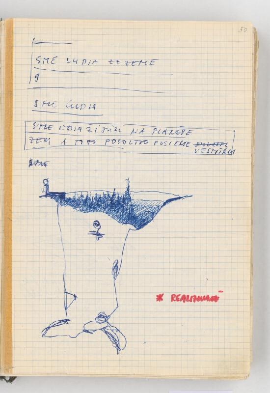 Rudolf Sikora - Poznámky a kresba