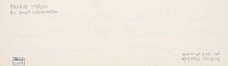 Milan Adamčiak - Trio - Flexible Triptych für 2 mal 3 Instrumenten B