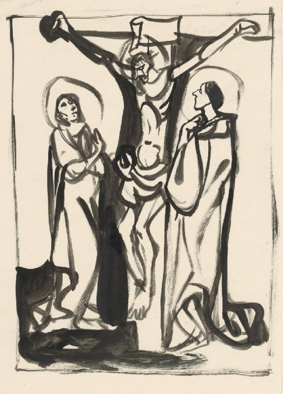 Vincent Hložník - Ukrižovanie - Mária a Ján pod krížom