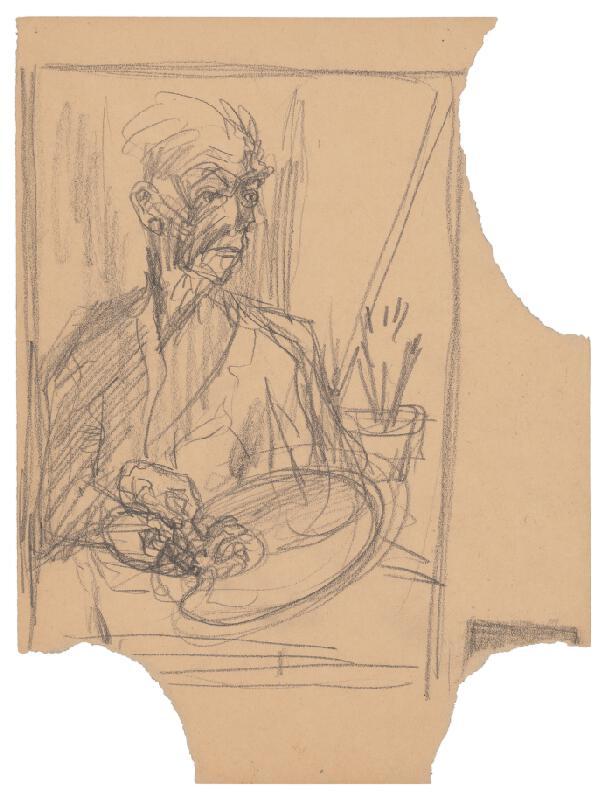 Arnold Peter Weisz-Kubínčan – Autoportrét s paletou a rôzne skice