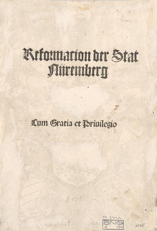 Albrecht Dürer – Ríšsky znak a znak mesta Norimberka