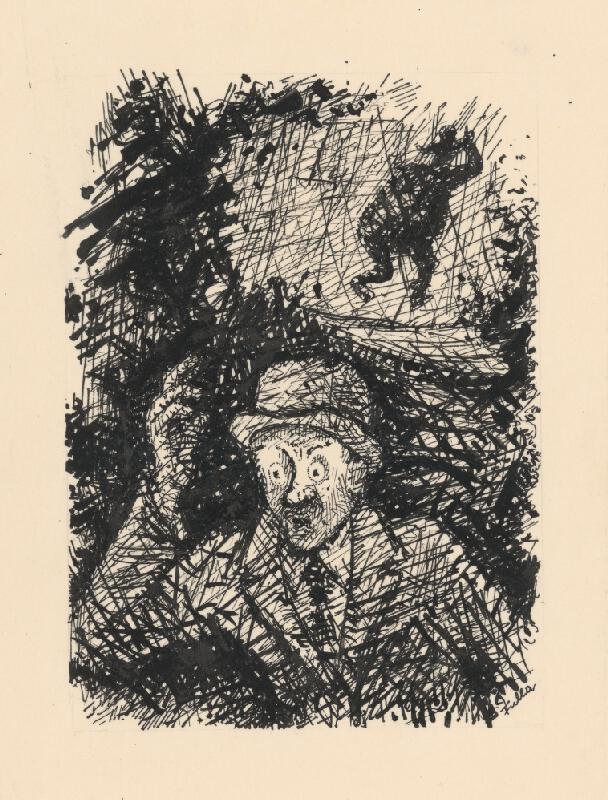 Ľudovít Fulla - Prestrašený muž