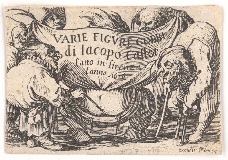 Jacques Callot - Titulný list k sérii Pidimužíkov