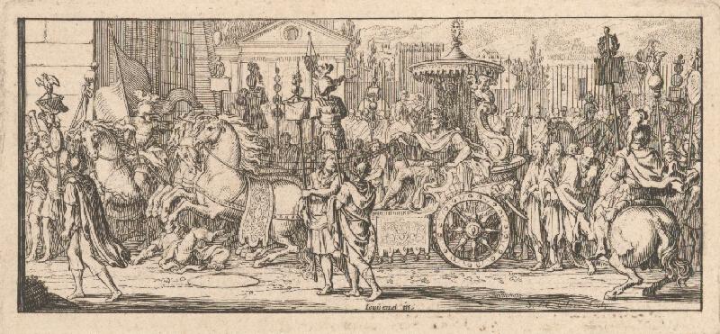Sebastien Le Clerc st. - Sprievod rímskeho cisára