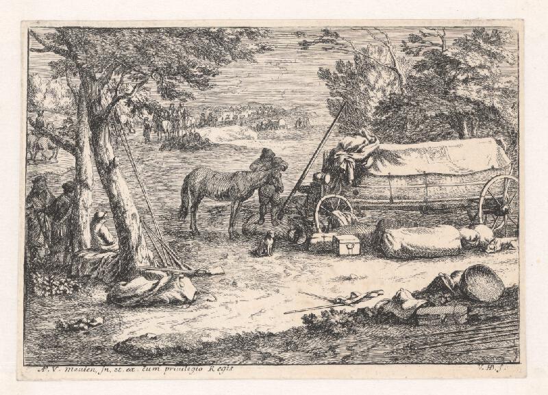 Jan van Huchtenburgh - Vojenský tábor