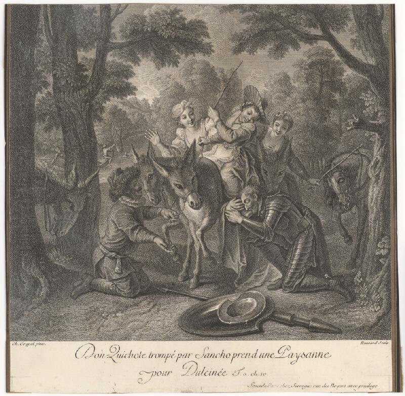 Jean Baptiste Haussard, Charles-Antoine Coypel - Don Quijote pred falošnou Dulcineou