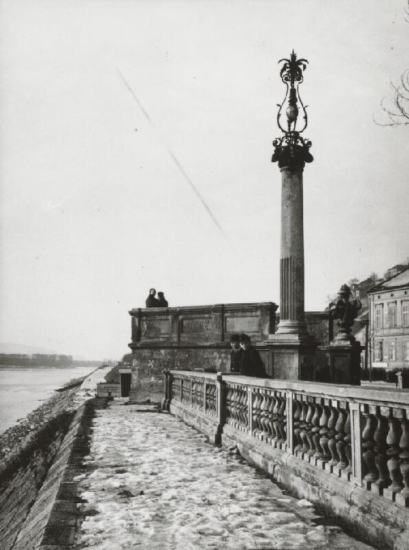 Pavol Poljak - Bratislavské nábrežie s výhliadkou na Dunaj