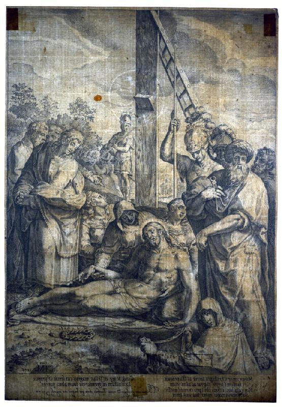 Cornelis Cort - Snímanie z kríža