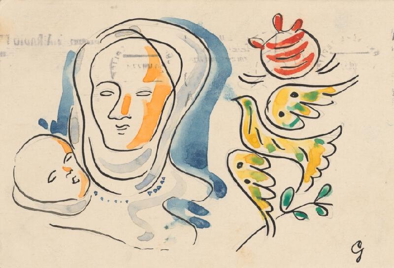 Mikuláš Galanda – Matka s dieťaťom a holubicou