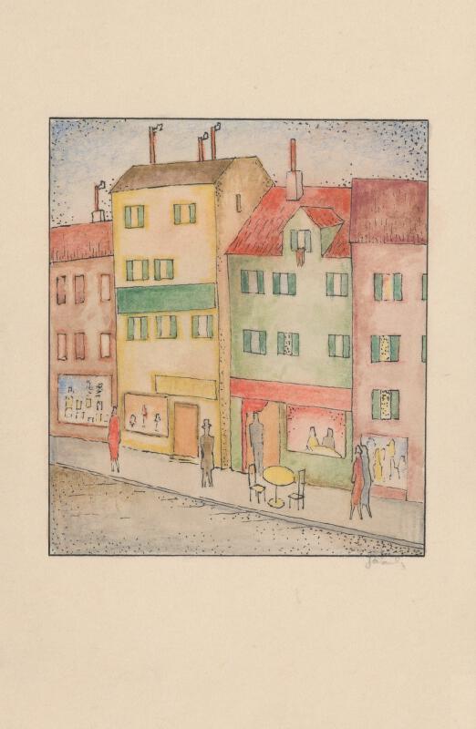 Mikuláš Galanda - Ulica s cukrárňou
