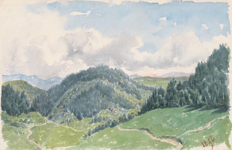 Friedrich Carl von Scheidlin - Horská krajina