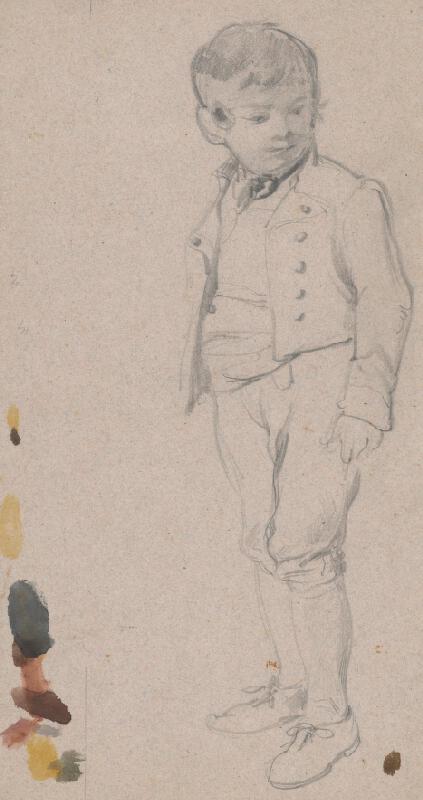 Friedrich Carl von Scheidlin - Štúdia chlapca