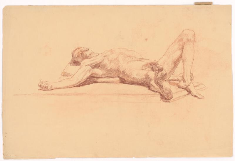 Jozef Hanula - Štúdia ležiaceho muža