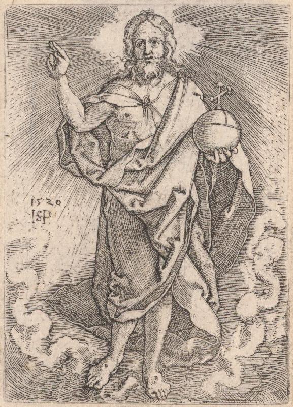 Hans Sebald Beham - Žehnajúci Kristus