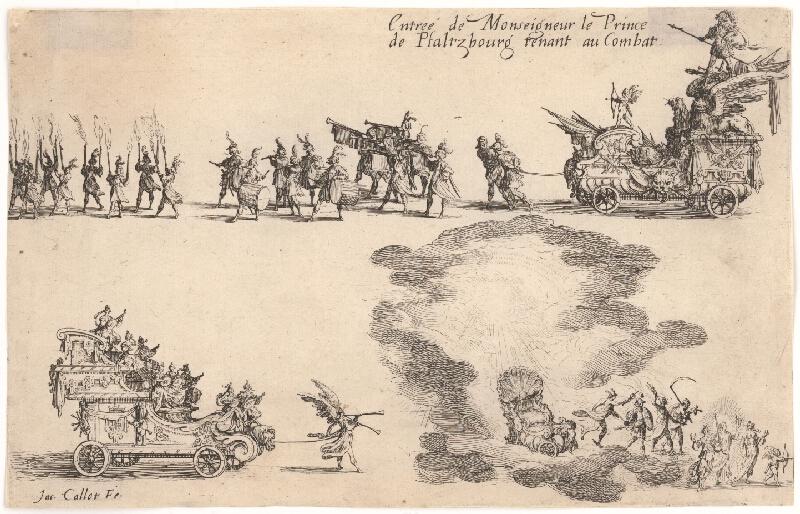 Jacques Callot – Príchod princa z Pfaltzbourg