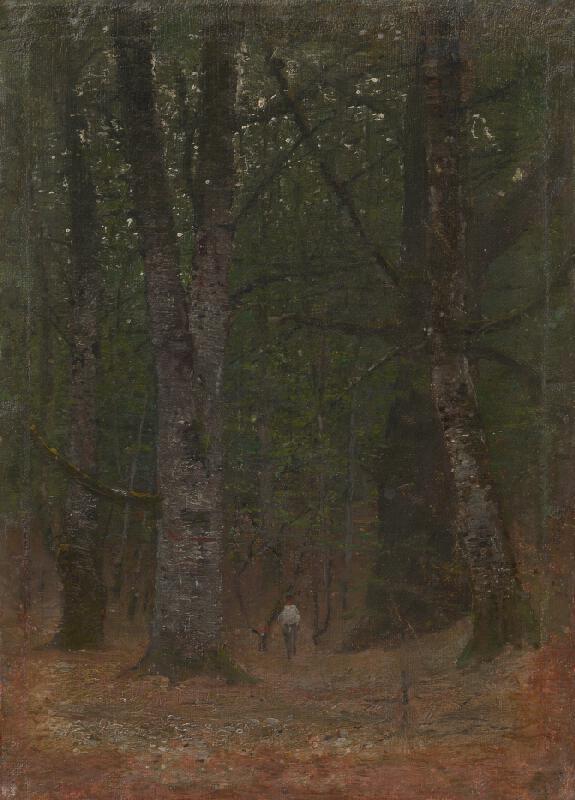 Ladislav Mednyánszky - Muž v lese