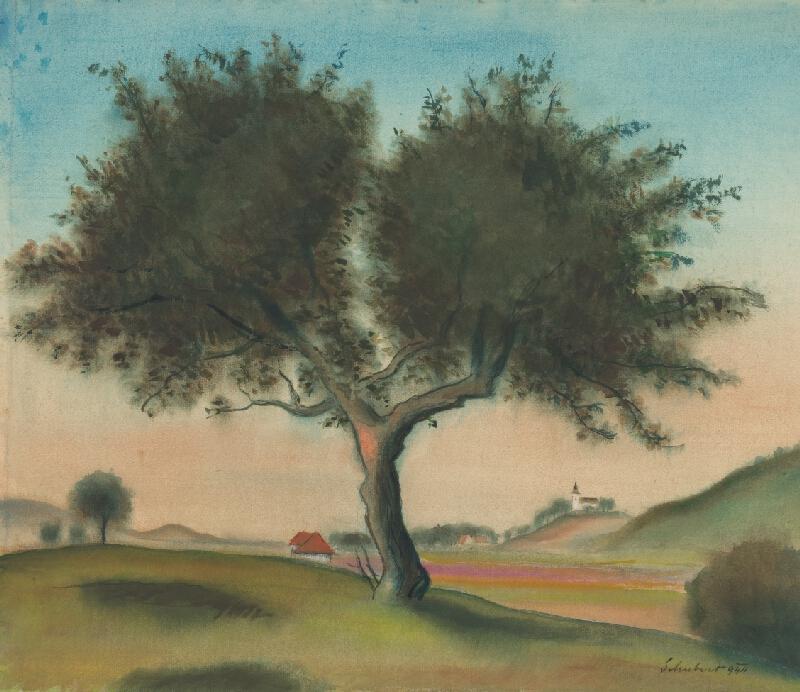 Július Schubert - Krajina so stromom
